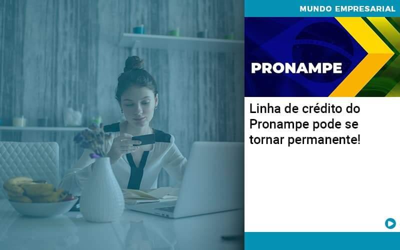 Linha De Credito Do Pronampe Pode Se Tornar Permanente - Abertura Web