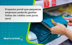 Proposta Prevê Que Pequenas Empresas Poderão Ganhar Linhas De Crédito Com Juros Zero Aberturaweb - Abertura Web