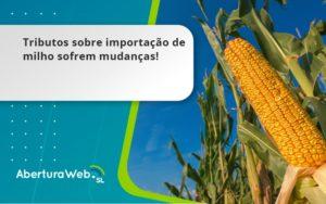 Tributos Sobre Importação De Milho Sofrem Mudanças! Aberturaweb - Abertura Web